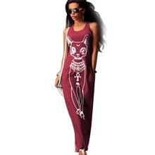 jinggton Women Casual Sleeveless Boho Long Cocktail Party Beach Dress Floor length dress