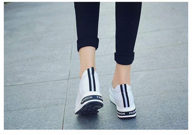 Shoes Women High Top Autumn Quality Leather Wedges Casual Shoes Height Increasing Slip On Ladies Shoes Trainers Size 35-39 YD139 (14)