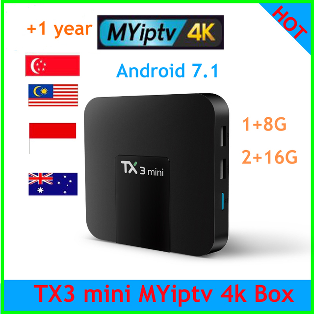 TX3 mini tv box malaysia iptv myiptv 1 Year Service 350+ Channels Malaysia Singapore IPTV Indonesia Australia from h96 i7s s7