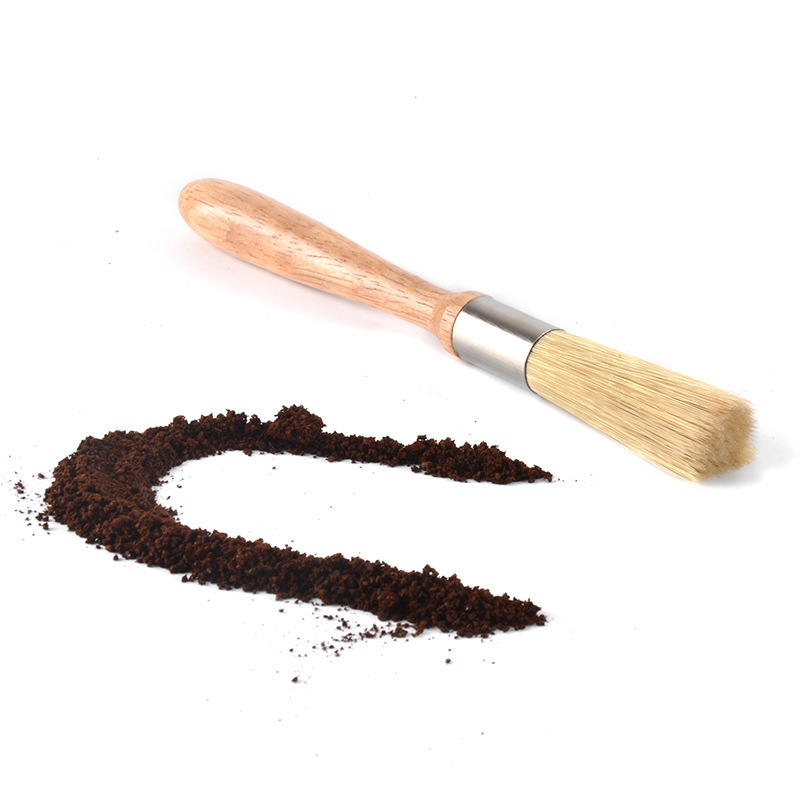 1pc coffee brush Coffee Grinder machine Cleaning Brush Wood Handle Natural Bristles Dusting Espresso for Barista