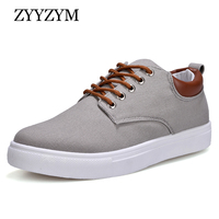 Men Canvas Shoes Lace Up Style Breathable Casual Top Fashion Trend Student Youth Shoes Large Size