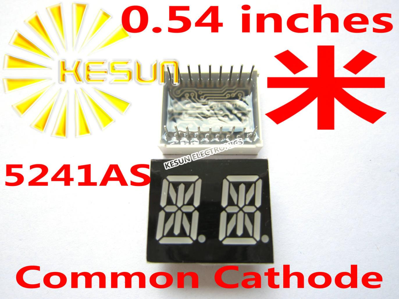 50PCS X 0.54 Inches Red Common Cathode/Anode 2 Digital Tube 5241AS 5241BS LED Display Module