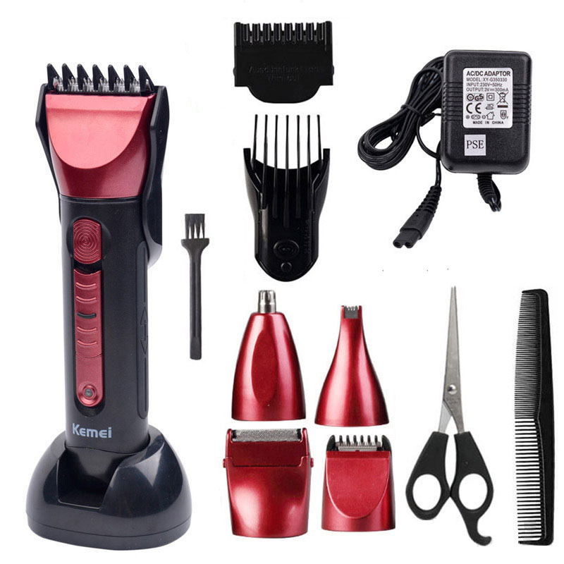 T093 5 in 1 hair clipper rechargeable beard trimmer barber electric shaving kemei cutting machine maquina