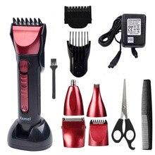 T093 5 en 1 tondeuse à cheveux rechargeable barbe tondeuse barber électrique rasage kemei de coupe machine maquina de cortar o cabelo