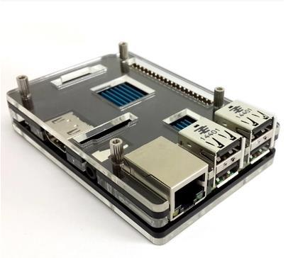 Raspberry Pi Model B+ 3 B Black Case Cover Shell Enclosure Box Transparent double color Compatible LCD 3.2 inch/3.5 inch