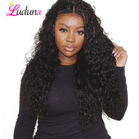 Luduna Lace Front Human Hair Wigs For Black Women Pre Plucked Remy Brazilian Wig Human Hair Water Wave Lace Wigs With Baby Hair