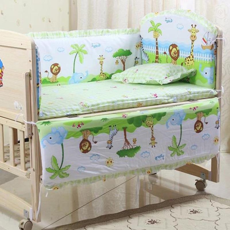 Baby Bedding Honest Baby Bedding Set Bumper Cotton Carton Print Soft