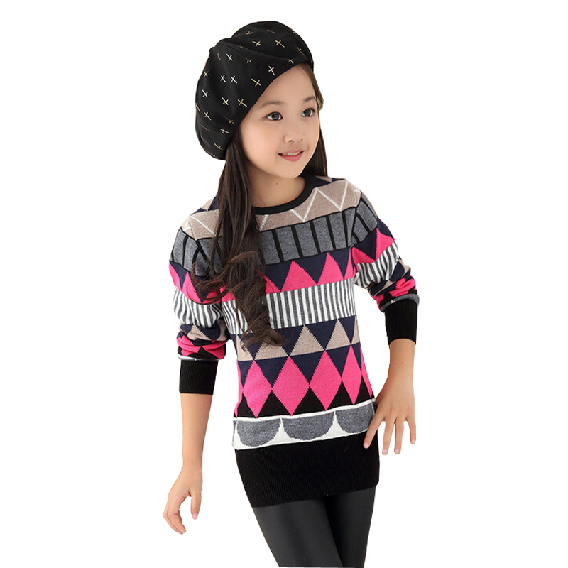 autumn winter big girl sweater pullover knitted children sweaters Kids  sweater for Teen girls children\u0027s clothe