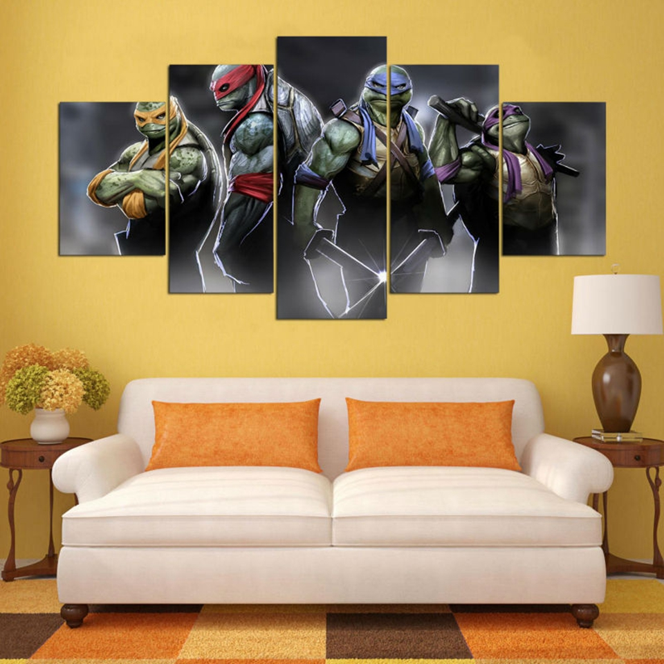HD Printed Paintings Modern Posters Home Decor 5 Panel Teenage ...