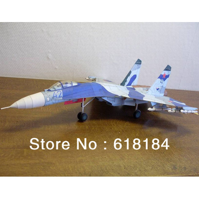 Free shipment Paper Model Fighter toys 67CM long 1:33 Russia