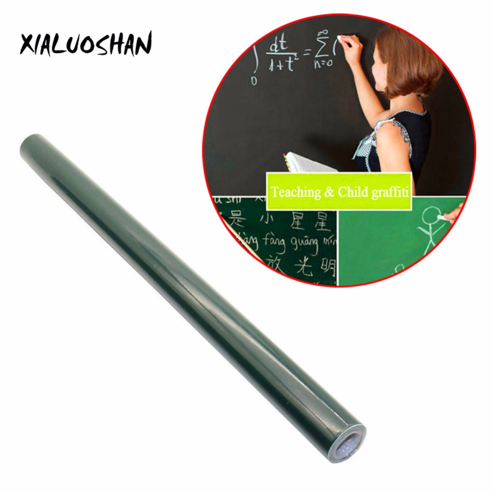 1 Pcs 45x100cm Dark Green Graffiti Wall Stickers Removable Vinyl Draw Erasable Blackboard Learning Office Supplies