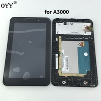 New LCD Display Touch Screen Digitizer Assembly With Frame Replacement Parts For Lenovo IdeaTab A3000 A3000