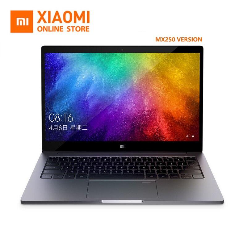 2019 Xiao mi mi Laptop Ar 13.3 Polegada Ultra Slim i5 8250U/i7 GeForce 8550U MX250 Janelas de Reconhecimento de Impressão Digital 10 inglês