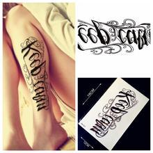 1PC Black Lettering Women Waterproof Tattoo Sticker Men HZ-22 Sexy Body Arm Words Design Tatoo Transfer Fake Tattoo Leg Shoulder