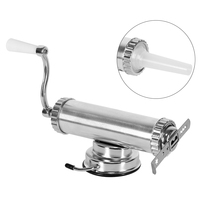 2 In One Hand Operated Sausage Meat Stuffer With Suction Base Homemade Aluminum Cookie Press And