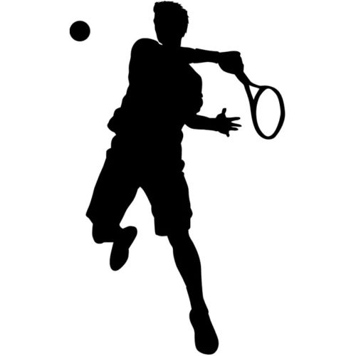 2018 Wall Stickers Tennis Player Vinyl Wall Decal Boy Man Sport Gym Mural Sticker Pose Design Living Room Bedroom Decoration