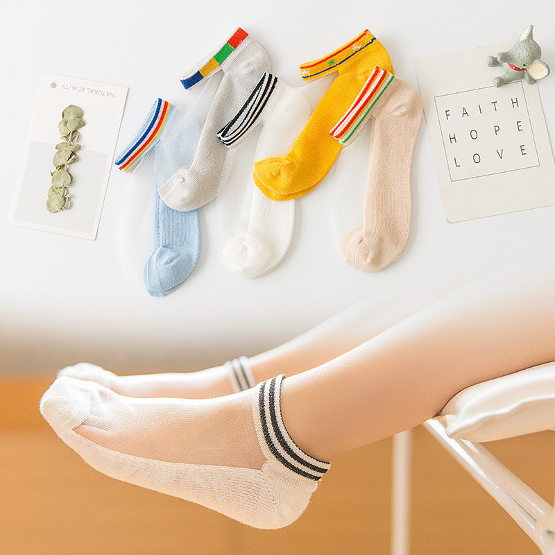 1-12 years 5pairs Summer Fashion Kids Socks Cute Infant Baby Socks Boy Girl Ultrathin Casual Mesh Socks Children Stripe Socks1-12 years 5pairs Summer Fashion Kids Socks Cute Infant Baby Socks Boy Girl Ultrathin Casual Mesh Socks Children Stripe Socks