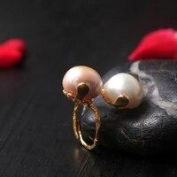 2019 для женщин кольца с жемчугом Ювелирные украшения 925 серебро Открытое кольцо 14 к Золотые Свадебные обручальные кольца мода петух наборы д