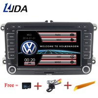 LJDA Two Din 7 Inch Car DVD Player For VW POLO PASSAT Golf Skoda Octavia SEAT