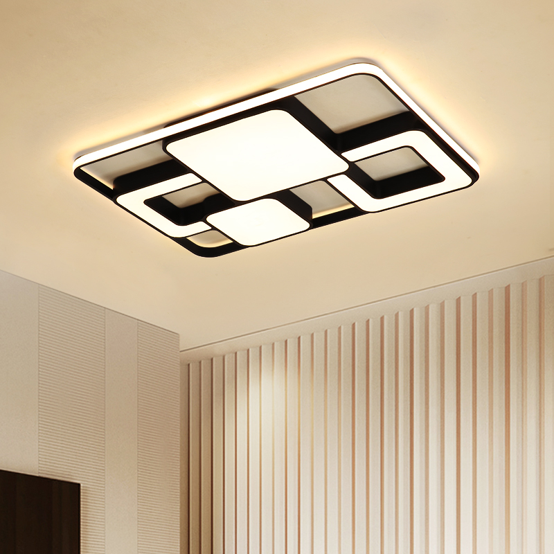 Modern LED Ceiling Lights LED Lamp for Living room Bedroom Abajur Luminarias lustre de plafond Rectangle LED Ceiling Lamp Lights
