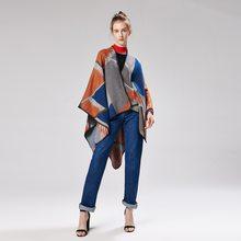 2018 Haute qualité femmes hiver écharpe de mode rayé ponchos et capes à  capuchon épais chaud châles et foulards femme outwear f5d149cbe81