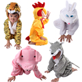 kids dance costumes Variety of animals dance dress stage costumes horse White Rabbit Blue Cat frog duck dog pig dog Gray Wolf