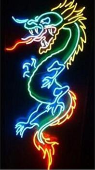 Custom Tattoo Dragon Glass Neon Light Sign Beer Bar Custom Made