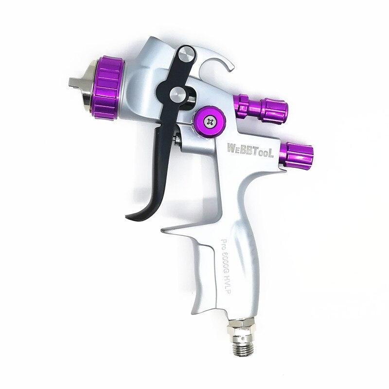 2019 nouveau HVLP Pro 6000g pistolet Gravité air pistolet avec 1.3mm buse pneumatique pistolet de voiture pulvérisation peinture pistolet Pulvérisateur
