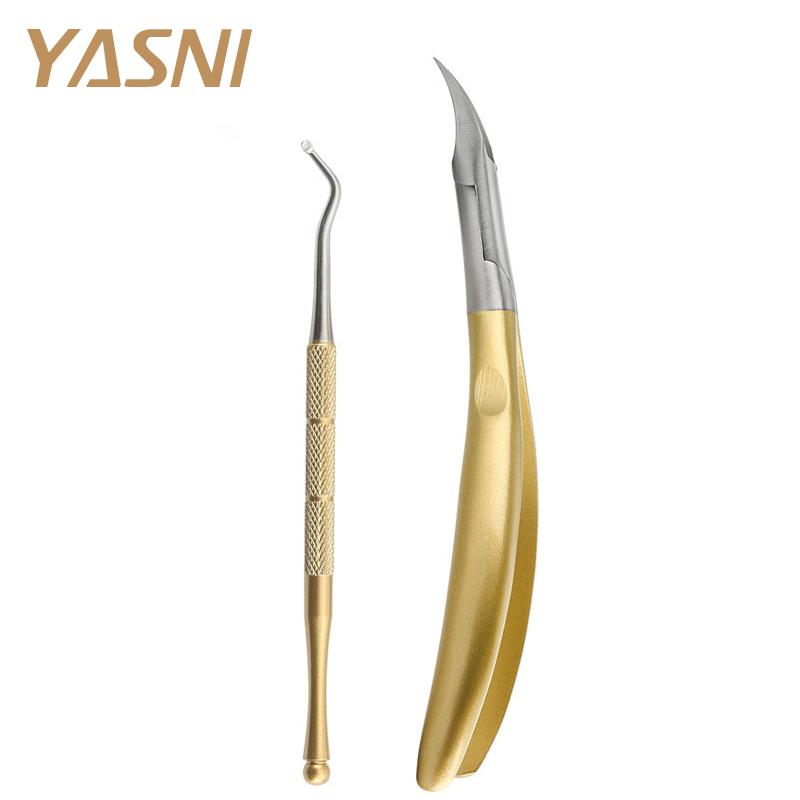 все цены на 2pcs/set Gold feet care Toe Nail Clippers Trimmer Cutters Professional Paronychia Nippers Chiropody Podiatry foot care FS42