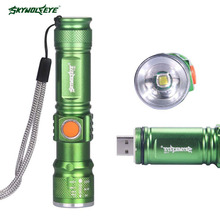 SKYWOLFEYE Rechargeable 600lumen T6 Led Flashlight,Waterproof Led Torch for Camping,Nightlight ,hunting APJ(China)