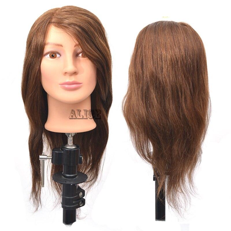 Cabeças de Manequim Cabeça com Cabelo Feminino para Venda Humano Cabeleireiro Formação Cabeça Styling