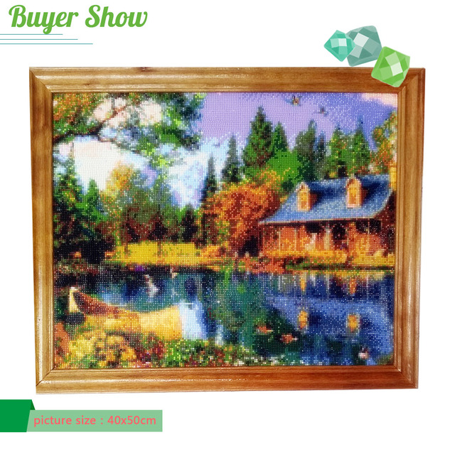 Diamond Painting Tree Diamond Embroidery Scenic Cross Stitch Full Square Diamonds Mosaic Needlework Patterns Rhinestone Decor