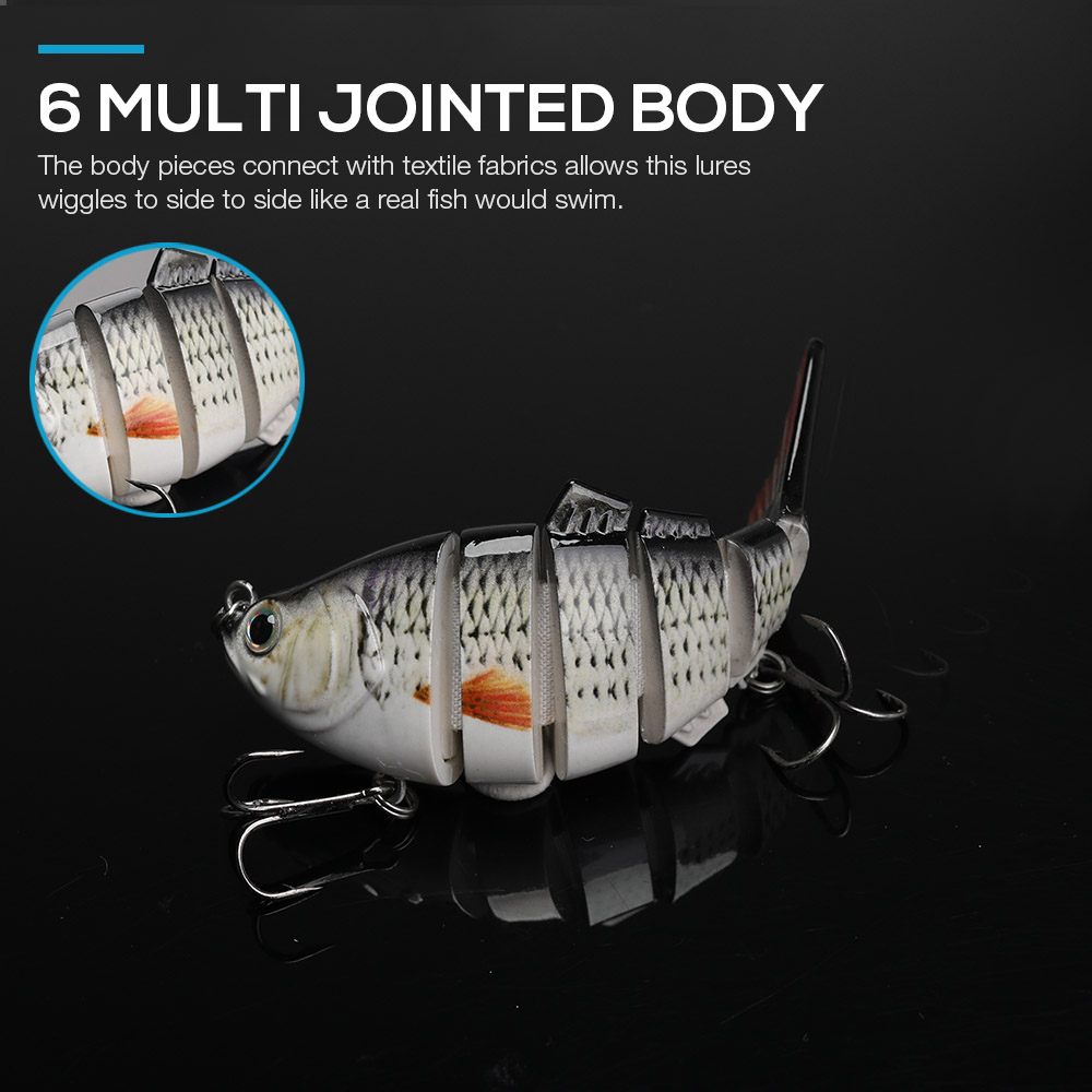 Image 4 - TREHOOK Sinking Wobblers Fishing Lures 10cm 17.5g 6 Multi Jointed Swimbait Hard Artificial Bait Pike/Bass Fishing Lure Crankbait-in Fishing Lures from Sports & Entertainment