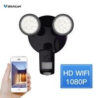 Vstarcam Outdoor HD 1080P WIFI lED Floodlight Camera Ip66 Waterproof IP Camera PIR Motion Detection, Two way Night Vision Camera