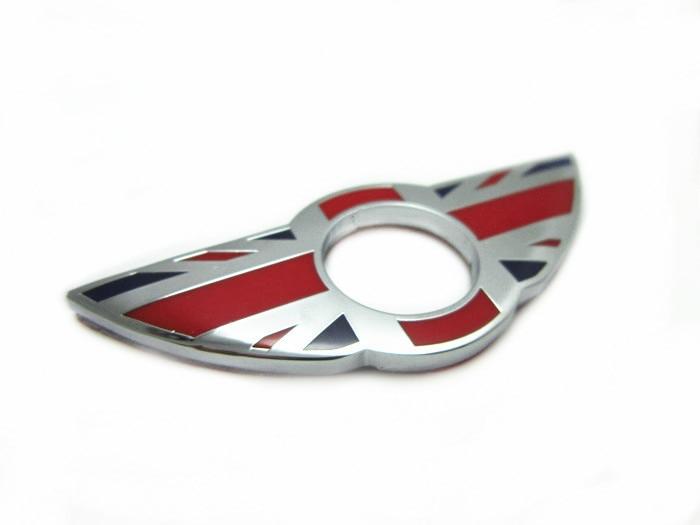 MINI Cooper R50 R52 R53 R55 Car Door Pin/Lock Sticker Door Metal Chrome Stickers Wings Modified Decoration UK flag