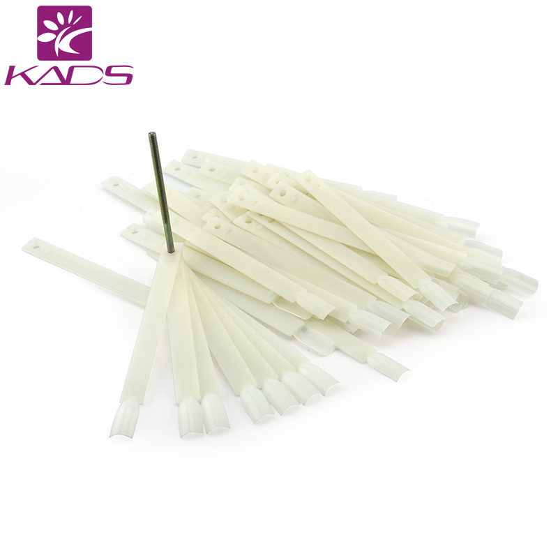 HOTSALE 50tips/packIvory White Plastic Flase Nail Art Tips Stick Display Practice Fan Board&Nail Art Display transparent color ...