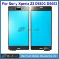 """10 pçs/lote qualidade original 5.2 """"para sony xperia z3 d6603 d6653 sensor digitador da tela de toque do painel de vidro frontal preto whtie cor"""