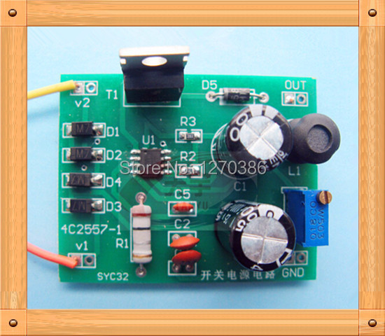 Free Shipping!!! 5pcs Switching power supply circuit output DC voltage adjustable kit / electronic production suite