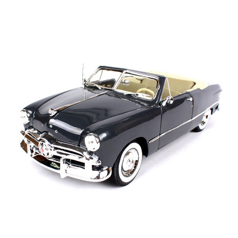 1:18 Maisto Ford 1949 Convertible Vintage Classic Car Blue/Black Zinc Alloy Car Model Gifts Toys  Collections Brinquedos maisto 1 18 scale ford 1939 deluxe police car models black diecast model children gifts collections toys for boys