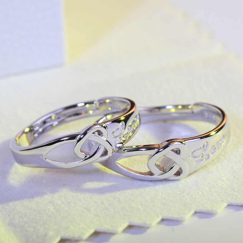 2019 coleção de verão coração para coração 925 anel de prata esterlina duplo coração jóias finas para mulheres anel de noivado jz45