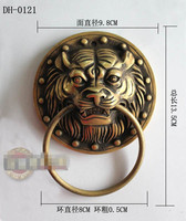 135mm Chinese Antique Door Knocker Copper Beast Tiger Handle DH 0121