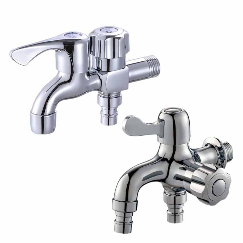 Multifunctional Double Water Outlet Faucet Taps Dual Connect Brass Tap Bathroom Bidet Faucet Fast Washing Machine