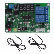 5-24V 2-CH Digital LED Display Intelligent Temperature Controller with 2 probe J12 dropshipping