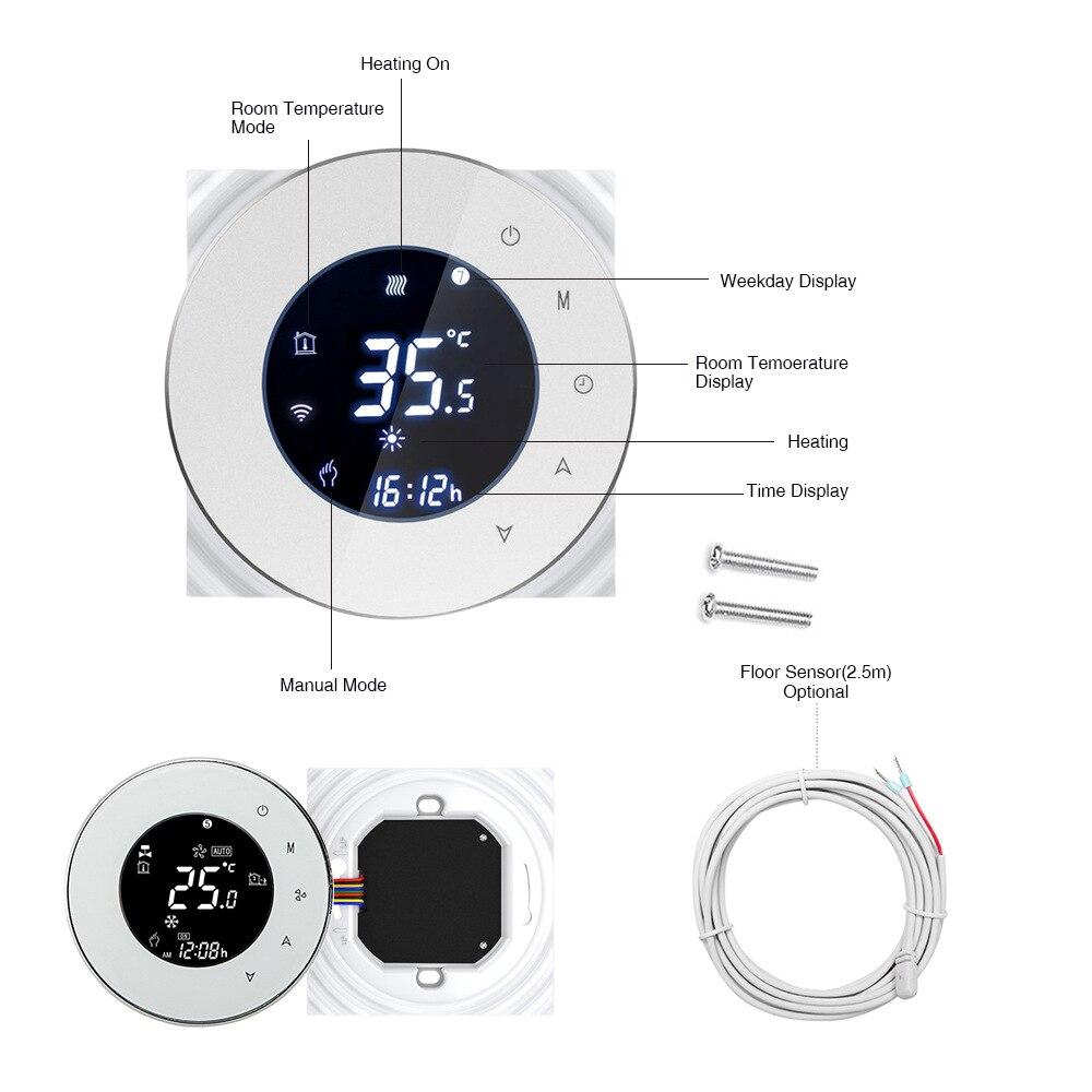 EACHEN graffiti wifi sans fil intelligent maison régulateur de température interrupteur chauffage thermostat affichage tactile