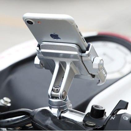 Aleación de aluminio Universal motocicleta titular del teléfono para iPhoneX 8 7 6 s soporte teléfono Moto titular para GPS bicicleta titular