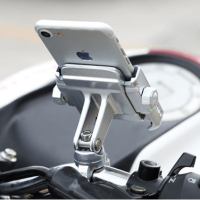 Universal Aluminum Alloy Motorcycle Phone Holder For IPhoneX 8 7 6s Support Telephone Moto Holder For