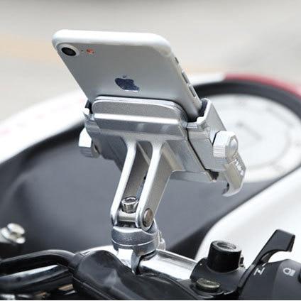 Universal Aluminium Legierung Motorrad Telefon Halter Für iPhoneX 8 7 6 s Unterstützung Telefon Moto Halter Für GPS Bike Lenker halter
