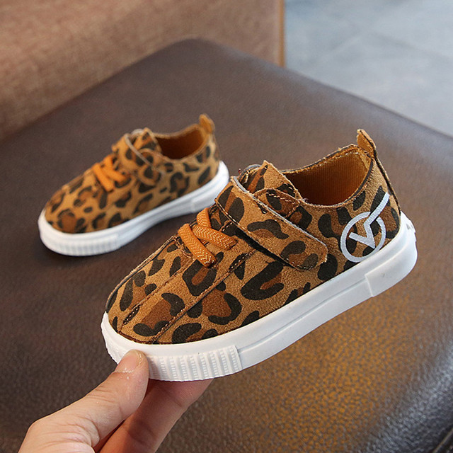 Kids Sport Shoes Girls Boys Shoes New Autumn Spring Leopard Kids Sneakers Breathable Flat Children Sneaker Los zapatos #YL