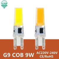 Bombilla Led G9 220V 9W COB SMD luces Led reemplazar lámpara de araña halógena 230V 240V bombilla Led G9