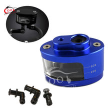 Universal Blue Brake Oil Fluid Tank Cup Fits For Suzuki GSXR 600 750 1000 GSF Bandit